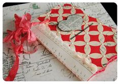 Handmade book from Heidi Swapp.  I made a similar one for Mother's Day last year with Heidi and Jessica Sprague.  They are fantastic!