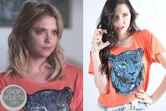 Shop Your Tv: Pretty Little Liars: Season 4 Episode 9 Hanna's Orange Lion Tee Pretty Little Liars Seasons, Pretty Little Liars Fashion, Pll Outfits, Fashion Outfits, Rebel Outfit, Hanna Marin, Pajama Top, Season 4, Marines
