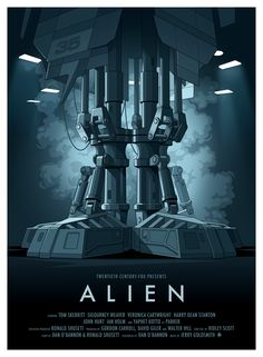 "This is a tumble-log devoted to the ""Alien"" and ""Predator"" film franchises, especially designs by HR Giger (and direction from directors Ridley Scott, James Cameron, et al). Alien 1979, Movie Poster Art, Film Posters, Art Posters, Aliens Colonial Marines, Alien Resurrection, Alien Isolation, Alien Queen, Predator"