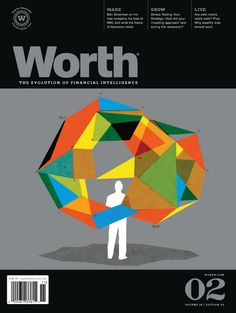 Worth magazine – Great layout of teasers, issue number and small logo (top left)