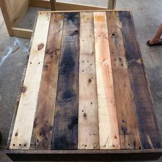 Reclaimed Barnwood Wood Coffee Table industrial steel hairpin legs modern up cycled recycled farm house table dining loft Barn Wood Projects, Reclaimed Wood Projects, Reclaimed Barn Wood, Pallet Crates, Wood Pallets, Recycled Furniture, Diy Furniture, Woodworking Outdoor Furniture, Woodworking Tips