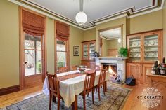 Bespoke real estate photography and video for inner city Melbourne's most prestigious properties. Table, Furniture, Windows, Property, Real Estate Photography, Home Decor, Room, Dining, Dining Room