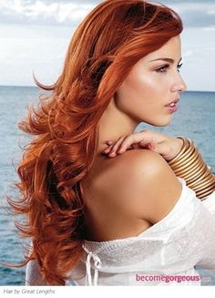 Long Red Hair redhead-style