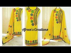 New Applique Dress Design for Summer Latest Color for Dress Designing/Fashion and Style 2018 Applique work is a traditional Sindhi craft, very common i. Border Embroidery Designs, Applique Designs, Embroidery Patterns, Crochet Patterns, Dresses Kids Girl, Kids Outfits, Kutch Work Designs, New Dress Pattern, Hawaiian Quilt Patterns