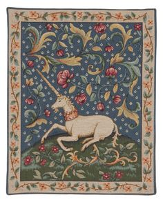 Enchanted Unicorn Tapestry - Medieval Mille-Fleurs - Tapestries