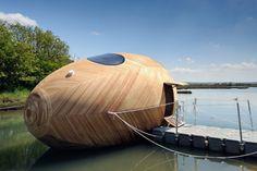 Exbury Egg: la casa-uovo ecosostenibile e galleggiante