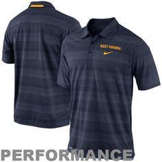 a83384784a8e Nike West Virginia Mountaineers 2013 Dri-FIT Preseason Performance Polo -  Navy Blue Football Team