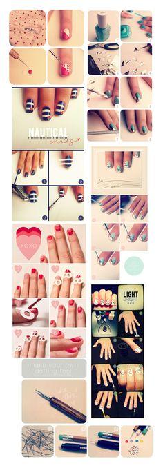 Recopilación de tutoriales para el esmaltado de uñas con distintos motivos