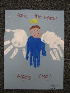 angels preschool craft more hands prints christmas crafts angels