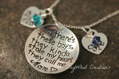 So There's These Boys... Custom Hand Stamped by SayWhatCreations, $64.00