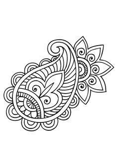 Mandala Illustration - Coloring Pages Mandala Coloring, Colouring Pages, Adult Coloring Pages, Coloring Books, Paisley Coloring Pages, Zentangle Patterns, Embroidery Patterns, Hand Embroidery, Zentangles