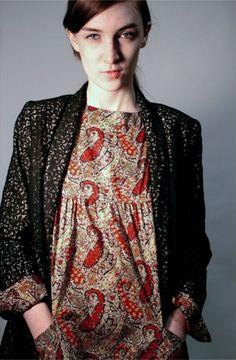 a.p.c. dress, rachel comey jacket