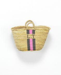 Monogram Small Basket | Baskets & Clutches | Accessories
