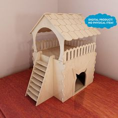 Huge Cat house plans for CNC router and laser cutting. Plywood Huge Cat house plans for CNC router and laser cutting. Wooden Cat House, Cardboard Cat House, Cat House Diy, Cnc Router, Routeur Cnc, Insulated Cat House, Heated Outdoor Cat House, Diy Cat Tower, Cat House Plans