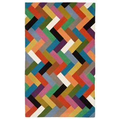 Zaida UK Ltd Zigzag Multi-coloured Rug