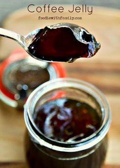 Black Coffee Jelly Recipe - DIY Gift World - Food - coffee Recipes Jam Recipes, Coffee Recipes, Dessert Recipes, Curry Recipes, Lunch Recipes, Drink Recipes, Chutneys, Coffee Jelly, Coffee Coffee