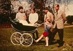 1965: Queen Elizabeth II and The Prince Philip, Duke of Edinburgh with their children (right to left); Charles Prince of Wales, Prince Andrew, Prince Edward and Princess Anne celebrating the Queen's 39th birthday at Windsor