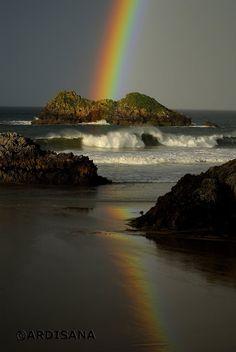 Ardisana: Arco Iris en la playa de Celorio