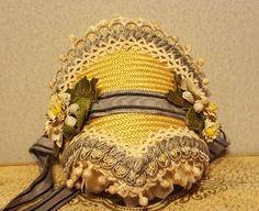 Gorgeous Huret Style Bonnet, Vintage & Antique Materials ~ Artist Made from cheriespetiteboutique-rl on Ruby Lane
