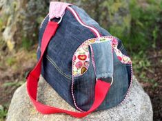 Jeans Upcycling - Zylindertasche vom Taschenspieler-3 Sew-Along - genäht von Keko-Kreativ