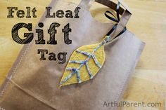 DIY Felt Leaf Gift Tag