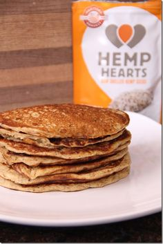 Hemp heart pancakes...add more flour than recommended 1/2 cup or too runny. Awesome flavor and healthy!