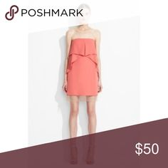 Runway Fei Fei Strapless Crepe Dress size 8 Retail $278 BCBG runway dress in Necar ......style name is fei fei    Preowned but no rips or stains BCBGMaxAzria Dresses Strapless