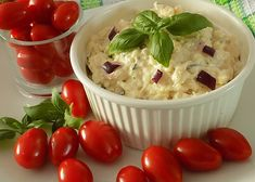 Mozzarellová pomazánka s bazalkou recept - TopRecepty.cz Mozzarella, Ham, Potato Salad, Mashed Potatoes, Recipies, Food And Drink, Cooking Recipes, Pudding, Treats
