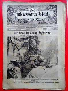 Militaria k.u.k. Zeitschrift Magazine 1917 Tiroler Hochgebirge Kaiserjäger Militaria, Austro Hungarian, Austria, Vintage World Maps, Army, Magazine, History, Magazines, Military