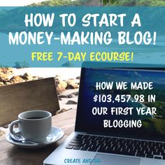 Learn how to start a successful, money-making blog with this FREE eCourse! We earned $103,457.98 with our health and wellness blog in our first year blogging, and we're ready to show you how we did it! Enter your email address to sign up for the free course!