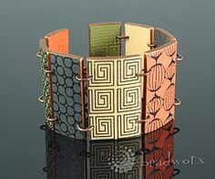 Polymer clay bracelet Bettina Welker