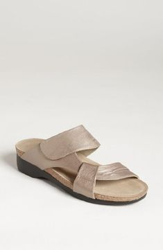 Munro American Womens Libra Taupe Metallic Leather Sandal 7 N AA >>> You can get additional details at the image link.