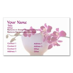 Zen Orchid Business Card
