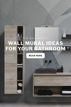 There's more to the ​bathroom​ than we might give it credit for. The bathroom is a place that we can find solitude from the stresses of everyday life, making it more than just a 'room' in your home. Be inspired by our blog on different wall ideas for your bathroom. #bathroomwallmurals #bathroomwallpaper #guestbathroom