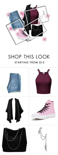 """""""Pink Sneakers"""" by isis-anubis5 ❤ liked on Polyvore featuring AG Adriano Goldschmied, Yves Saint Laurent, Converse, Gucci and Bling Jewelry"""