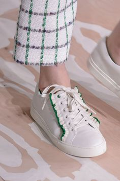 These Are the Most Comfortable Shoes to Hit the Runway This Season All laced up with girlie details.