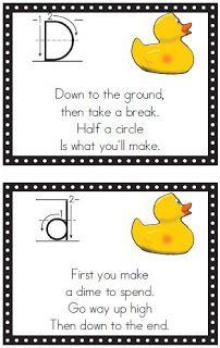 A Turn to Learn: Alphabet Writing/Formation Signs & a Free Frame!