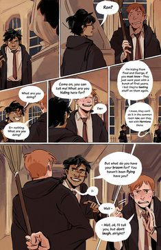 MERUZ — Harry hesitated, but after all, Ron had been. Harry Potter Comics, Harry Potter Artwork, Harry Potter Drawings, Harry Potter Fandom, Harry Potter World, Ron And Harry, Romantic Comedy Movies, Desenhos Harry Potter, Harry Potter Universal