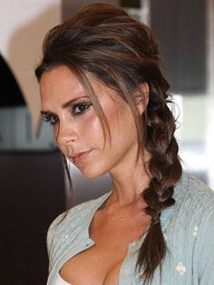 Victoria Beckham pulled off this messy side plait to perfection!