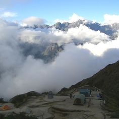 Camping in the clouds on the Inca Trail http://www.inkatrail.com.pe/