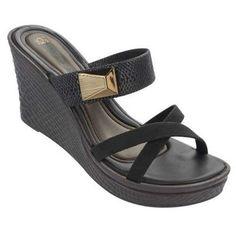 Grendha Women's Glam Platform Sandal-Black-Size 6