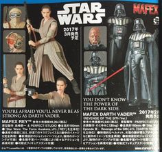 ToyzMag.com » MAFEX STar Wars : Rey, Darth Vader, Darth Vader Hologram