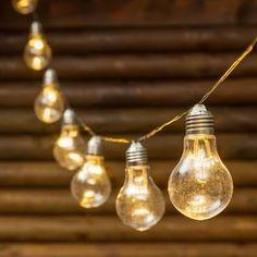 Guirlande Guinguette 10 ampoules miniled blanc chaud