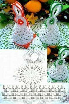 Christmas Crochet Patterns Part 8 - Beautiful Crochet Patterns and Knitting Patterns Easter Egg Pattern, Crochet Motifs, Christmas Crochet Patterns, Crochet Doilies, Crochet Flowers, Crochet Bunny, Crochet Animals, Crochet Toys, Easter Projects