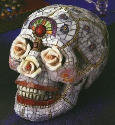Laurel Skye - Day of the Dead mask   Nuts...more inspiration!
