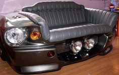 Shelby Mustang GT 500 sofa / couch for the man cave or garage Garage Furniture, Car Part Furniture, Automotive Furniture, Automotive Decor, House Furniture, Man Cave Garage, Car Man Cave, Custom Couches, Car Sofa