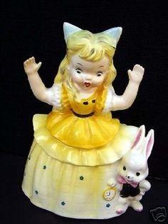 Vintage 1956 Napco Rabbit  Alice in Wonderland Planter (12/08/2007)