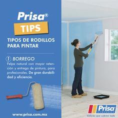 #PrisaTips Tipos de rodillo. 1. Borrego. http://www.prisa.com.mx/ #ColoresQueCubrenTodo