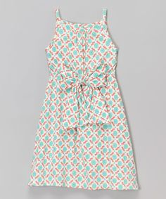 Look at this Teal Mod Flower Organic Maxi Dress - Infant, Toddler & Girls on #zulily today!