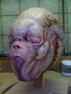 Mask paint design by Casey Love. Sculpture design by Carlos Huante. Film: MIB3 for Rick Bakers Cinnovation studios.